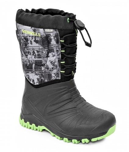 Merrell talvisaappaat / Snow Quest Waterproof, Musta-Lime