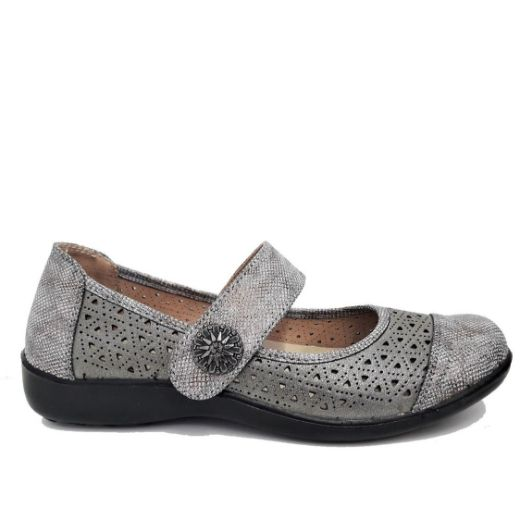 Mode Erika ballerinat / Harmaa (M6113-710 grey)